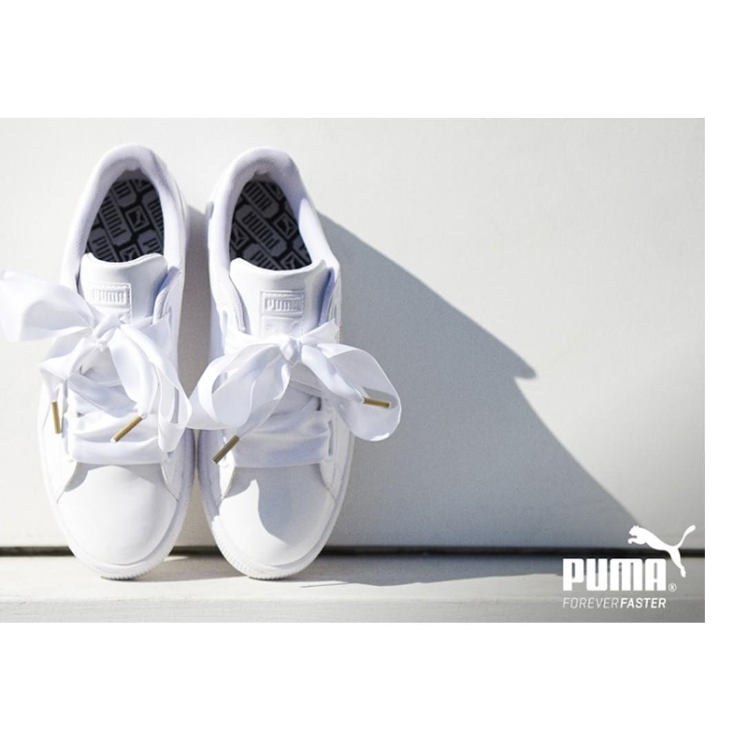 more photos f58ab f2d3d Promo} Korea Puma BASKET HEART PATENT WNS 240mm/UK5, Women's ...