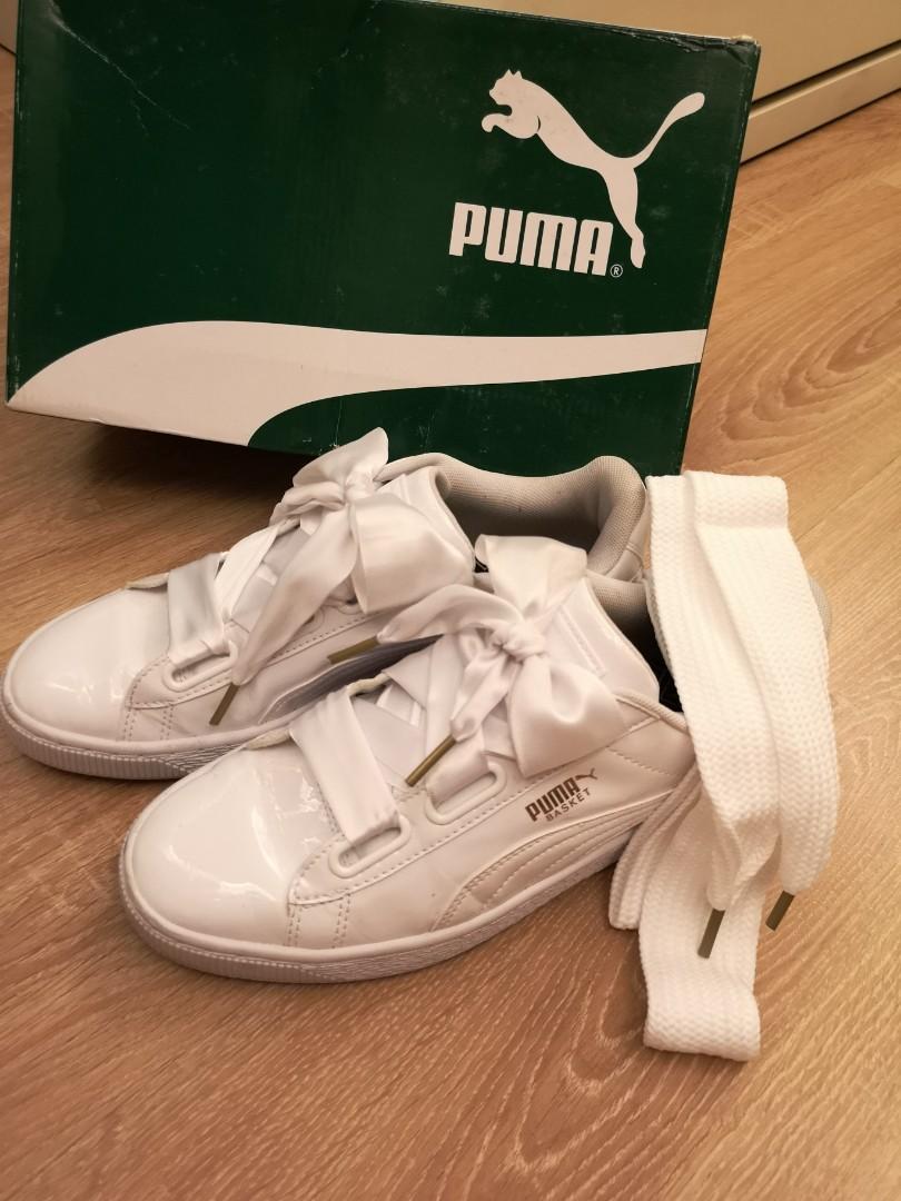 promo code a5b95 56945 Puma Basket Heart White