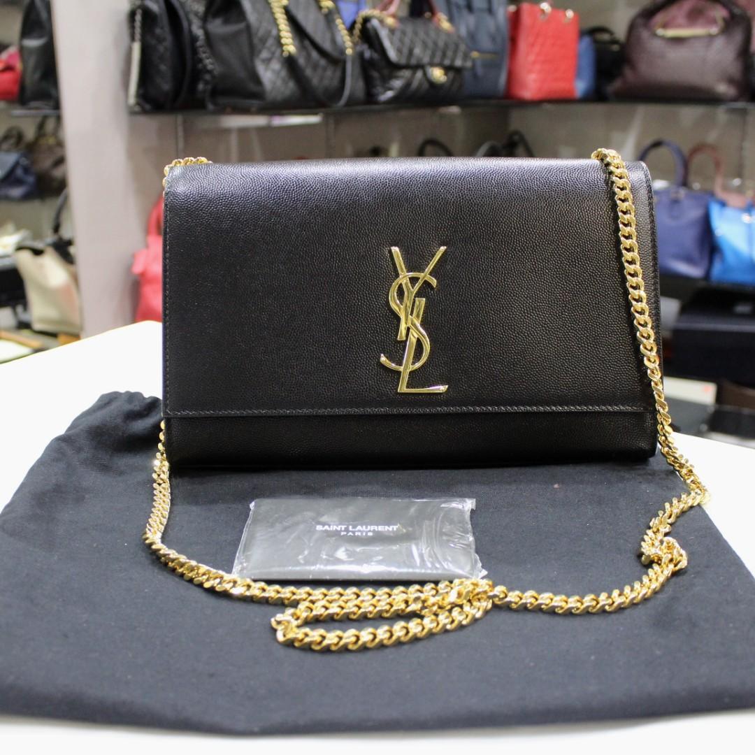 d9ae65ded0a2 Saint Laurent Kate Medium In Grain De Poudre Embossed Leather Bag ...