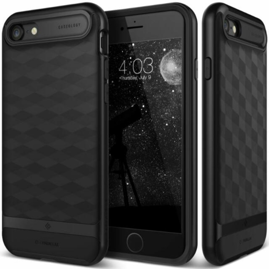 sports shoes 6fb38 851f7 ⭐SEPT SALE⭐Caseology [Parallax] iPhone 7/8 Case [Black]⭐⭐
