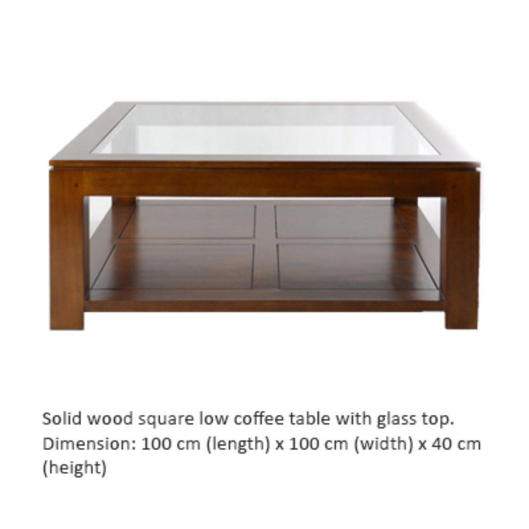 Rubberwood Coffee Table.Solid Rubber Wood Coffee Table Furniture Tables Chairs On Carousell