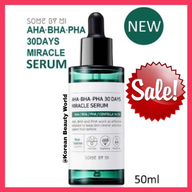 Some By Mi AHA BHA PHA 30 Days Miracle Serum, Health & Beauty, Skin, Bath, & Body on Carousell