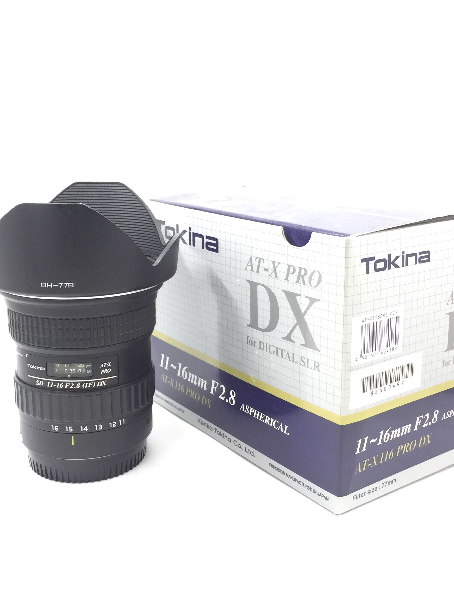 Tokina 11-16mm F2.8 (IF) DX (Box) Canon Mount, Photography, Lenses ...