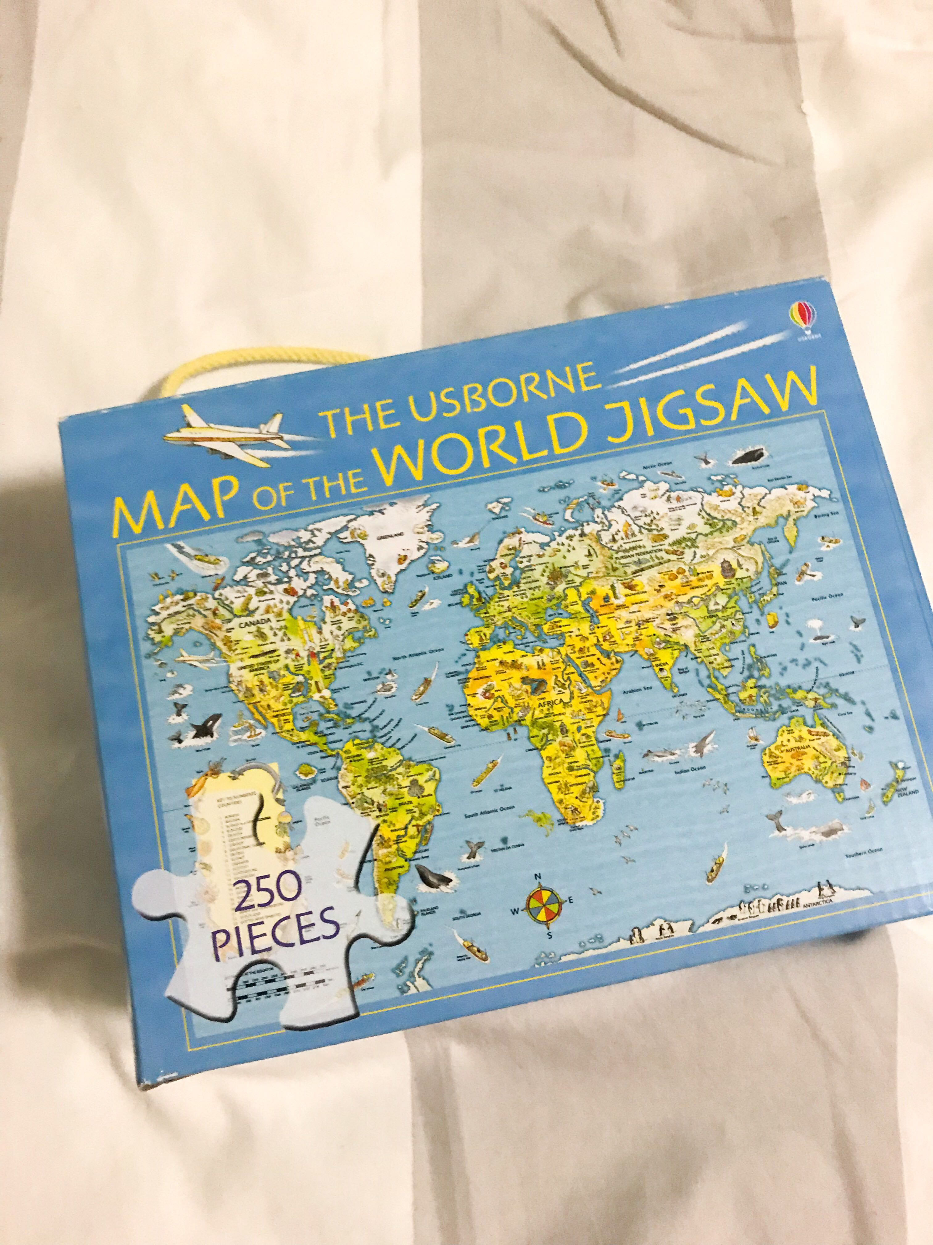 Usborne Map of the World Jigsaw Puzzle, Toys & Games, Board Games ...