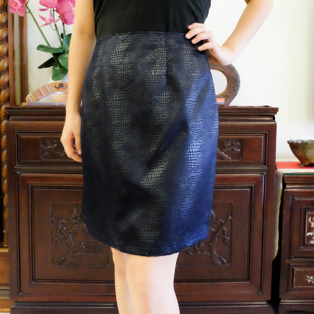 be365a1be8 Vintage Faux-Leather Pencil Skirt (Brand New), Women's Fashion ...