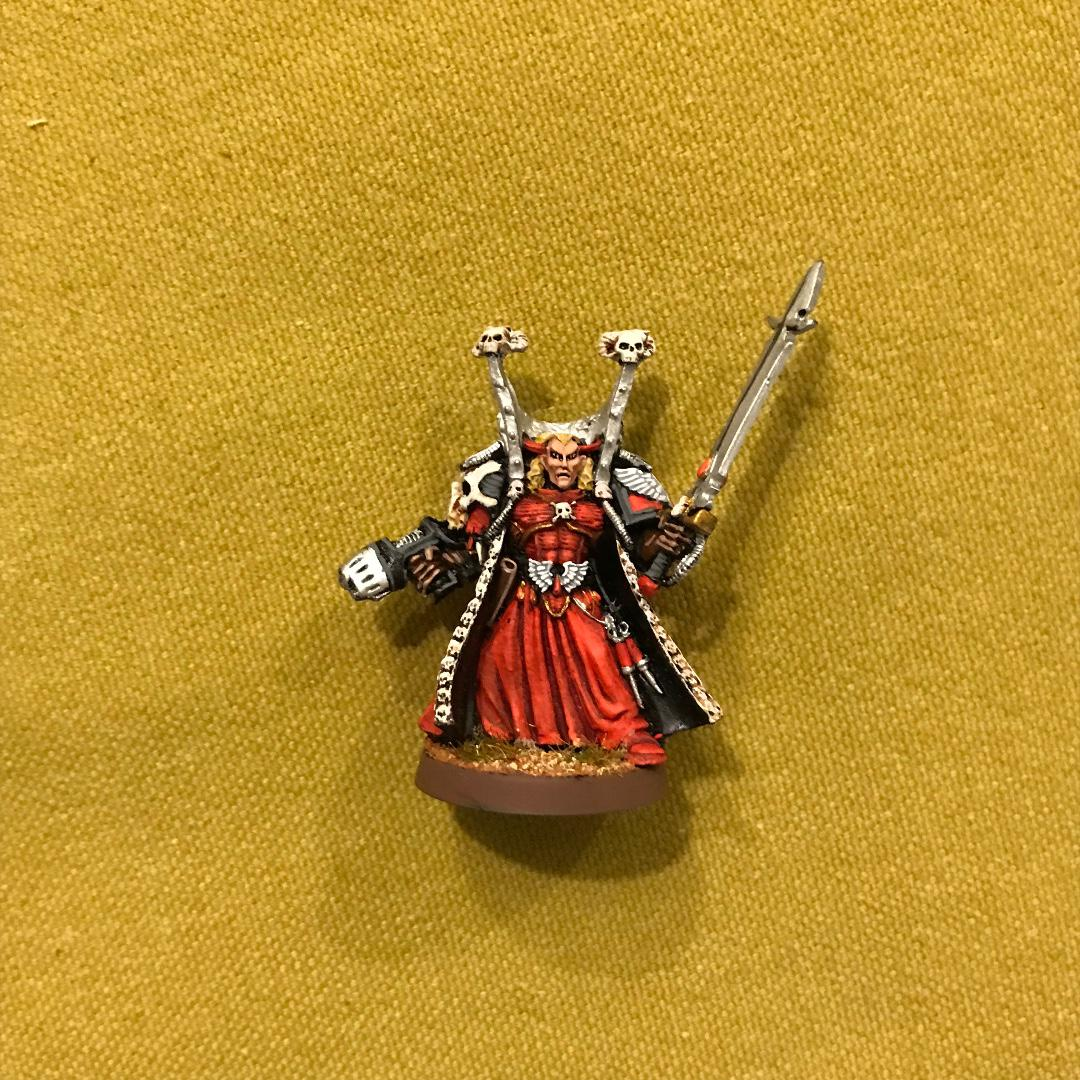 Warhammer 40K Blood Angels Mephiston, Lord of Death Painted