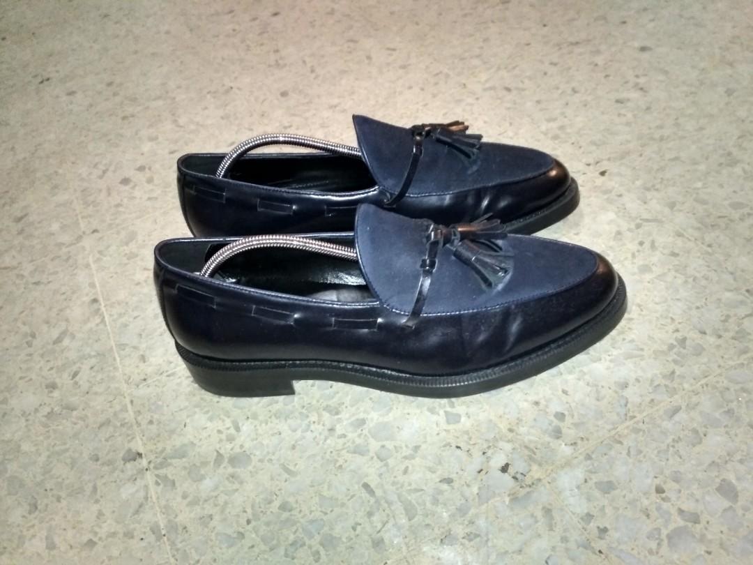 b056417fe91 ZARA EU42 genuine suede leather tassel loafer goodyear-welted
