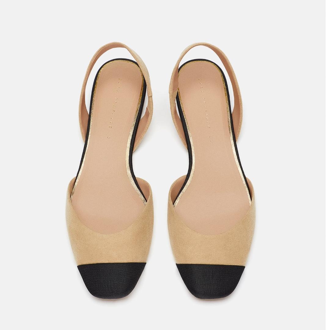 b8710dab798 Zara Slingback Flats (Black   Camel)