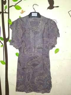 Dress remaja / dewasa batik lapis furing