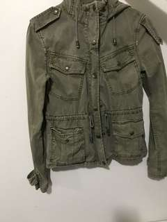 aritzia talula military green jacket