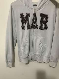 white zip up hoodie / sweater