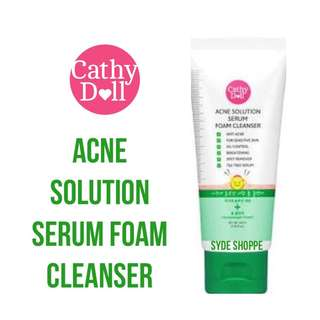 CATHY DOLL ACNE SOLUTION SERUM FOAM CLEANSER