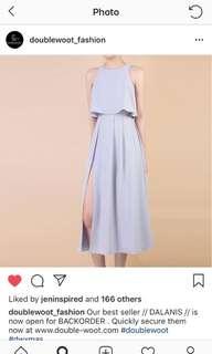 Doublewoot side slit dress