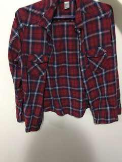 h&m plaid flannel