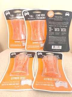 又番貨喇😍(包郵)WoodWick Car Vent Freshener Citrus Zest 清香柑甜汽車香薫