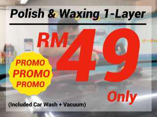 Car Wash + Vacuum + Body Waxing PROMO !! PROMO !!