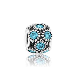 Authentic Pandora, STUDDED TEAL LIGHTS CHARM