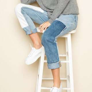 Brandy melville kenzo patchwork mom jeans
