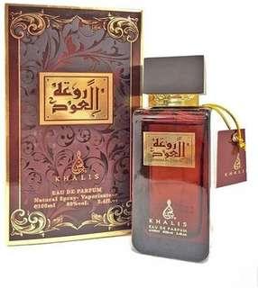 100ml Rouat Al Oud Arabian Perfume Oudh Mood Minyak Wangi Gaharu Attar Mekah Habib