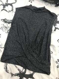 🚚 Charcoal Grey Mock Neck Top