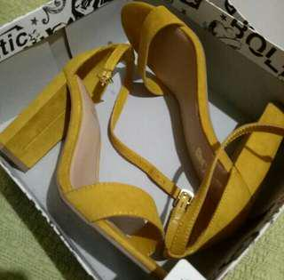 Payless Brash Yellow Pumps