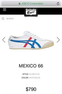 Onitsuka Tiger經典款Mexico 66 leather trainers 有盒