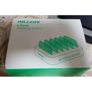 *BNIB* IMLEZON Multi Device USB Charging Station Organizer for Multiple Devices IMLEZON 5 - Port