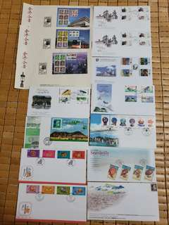 1996,1997,1998年香港郵票信封,有14封