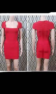 Red Herve Ledger (inspired) bandage dress