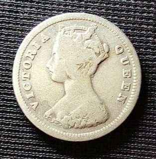 1890香港一毫銀幣