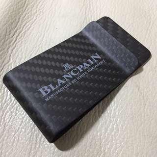 全新 BLANCPAIN Carbon Fibre Money Clip 碳纖維 銀紙 夾(不議價 fixed price)