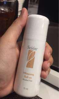 Scion whitening roll on nuskin