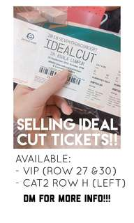 #IdealCutinKL Tickets