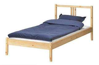 IKEA single wooden bed frame