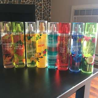 Bath and body works mists