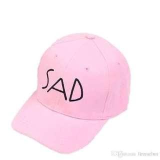 Sad Pink Tumblr Cap/Hat