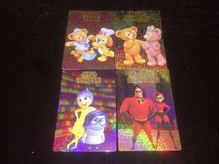 香港迪士尼 HKDL MA限定閃卡SET Duffy Sheillemay Cookie Joy Sad The lncredibles 超人特工隊