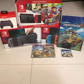 WTS- Nintendo Switch + 1 Game + 1 Controller + Free Gift