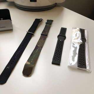 🚚 20mm Watch Strap Rubber Nylon
