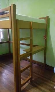 Loft bed with mattress