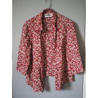 Vintage floral top Size 14