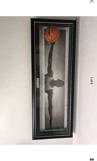 Michael Jordan signed basketball framed coa