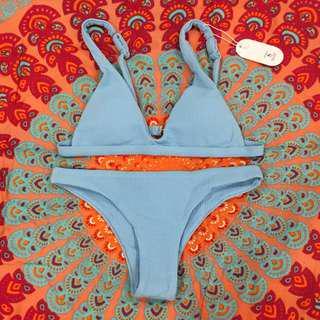 Baby blue bikini set