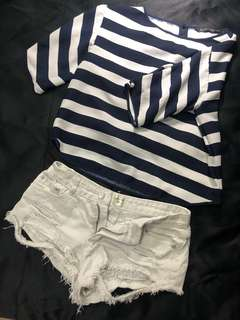 Zara Round Neck Striped Casual Loose Shirt for Women