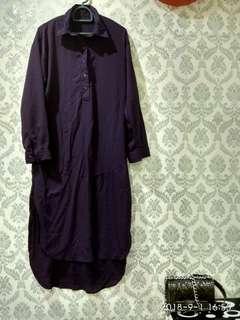 Purple long tops