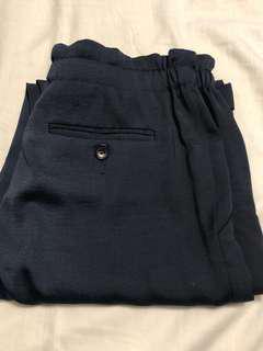 BCBG navy blue silk pants