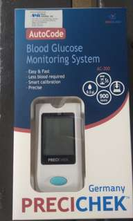 Blood Glucose Monitor with 20pcs lancets and strips