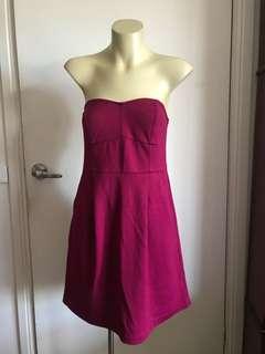 Maroon Dress with Pockets