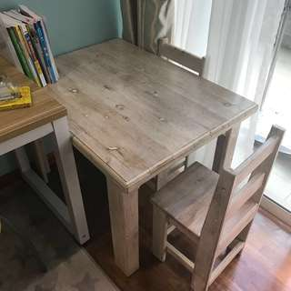 Solid wood children Study table & chairs