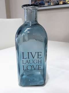 LIVE LAUGH LOVE Glass Vase
